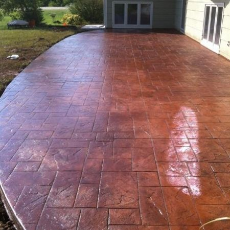 stain Stamped Concrete