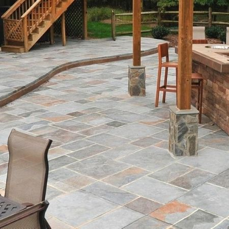 decorative concrete patio