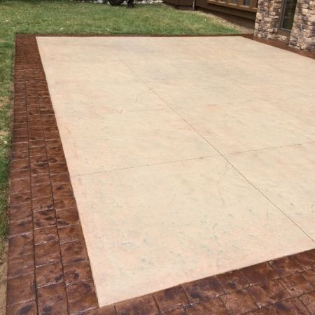 stamped concrete border